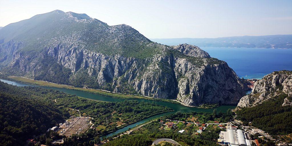 Cetina-Mündung bei  Omiš