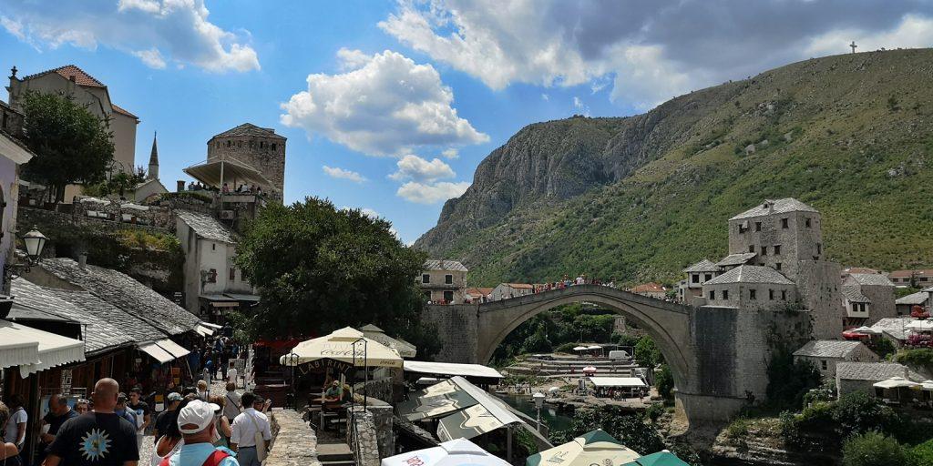 Blick nach Süden auf die Stari Most