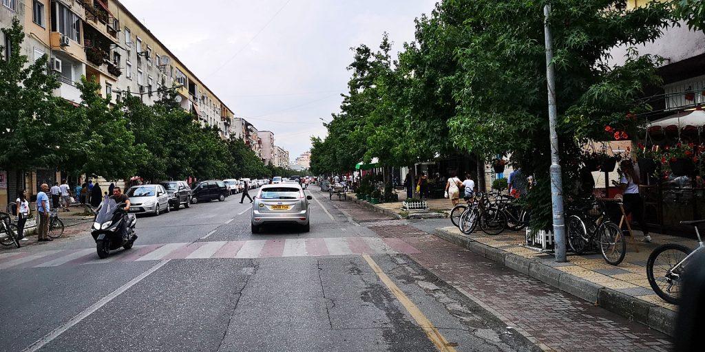 Hauptstrasse in Shkodër