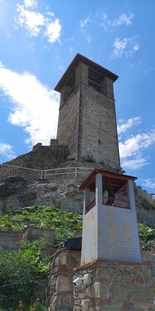 Uhrturm der Burg von Preza