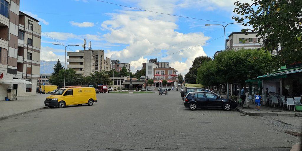 Zentraler Platz, Burrel, Albanien