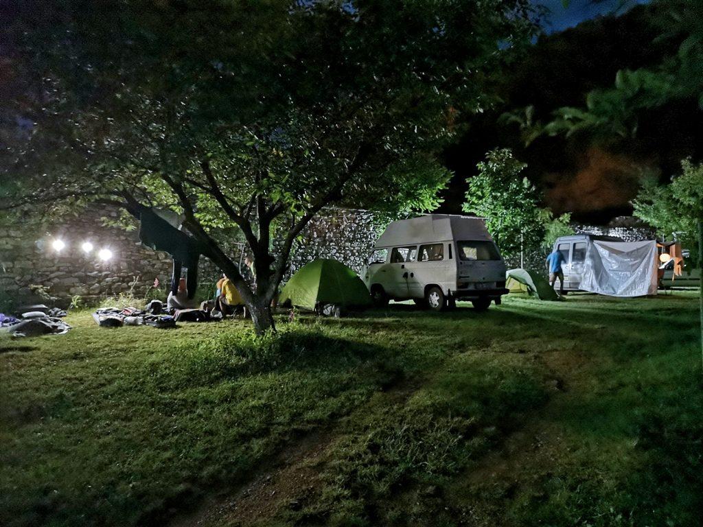 Campingplatz in Peshkopia, Albanien