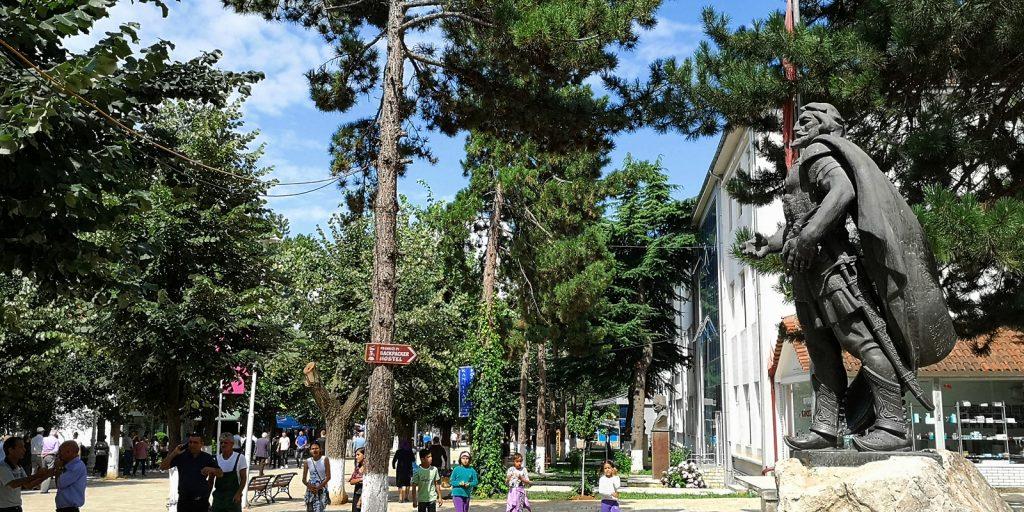 Denkmal des albanischen Nationalhelden Skanderbeg