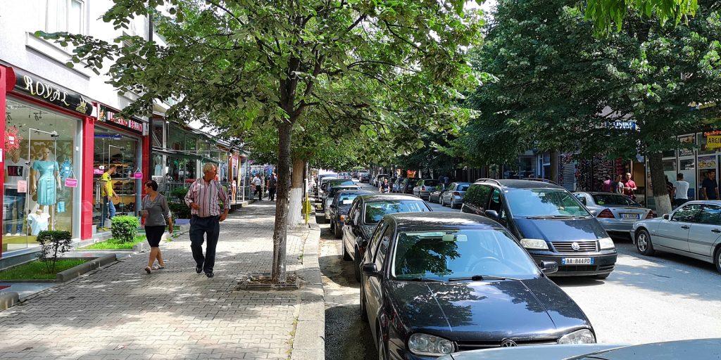 Nebenstraße in Peshkopia