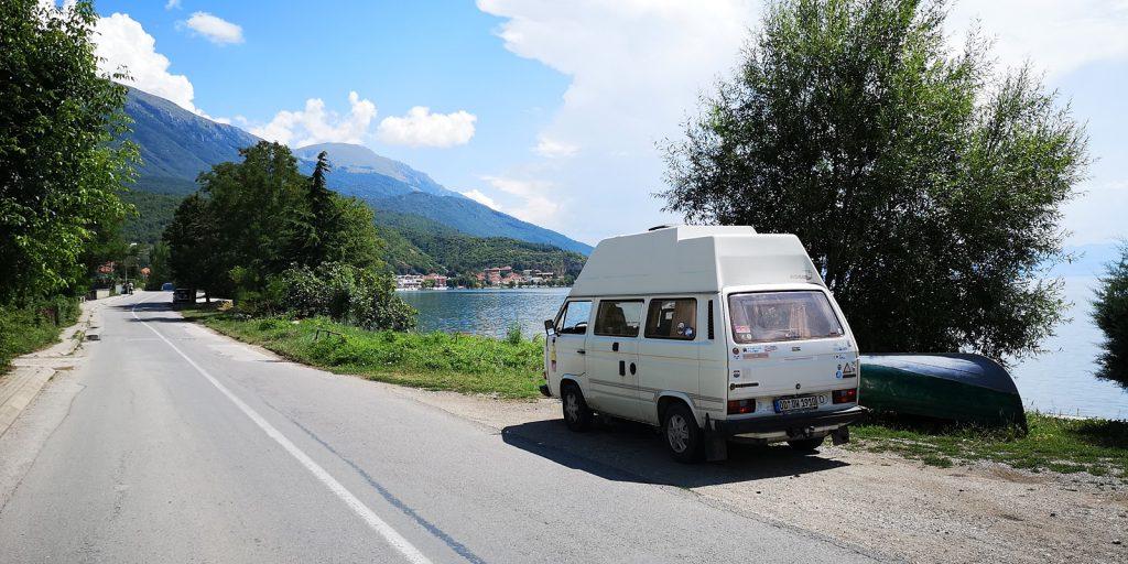 Küstenstraße am Ohridsee, Mazedonien