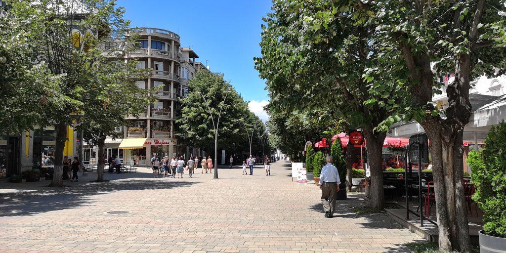 Korça, Fußgängerzone