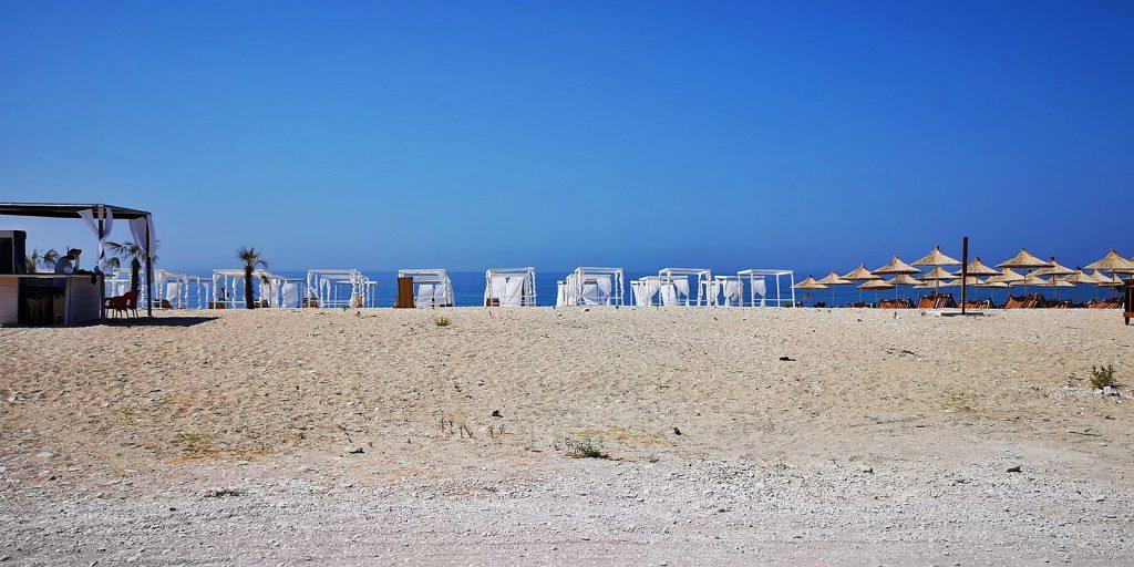 Strand von Borsh, Albanien