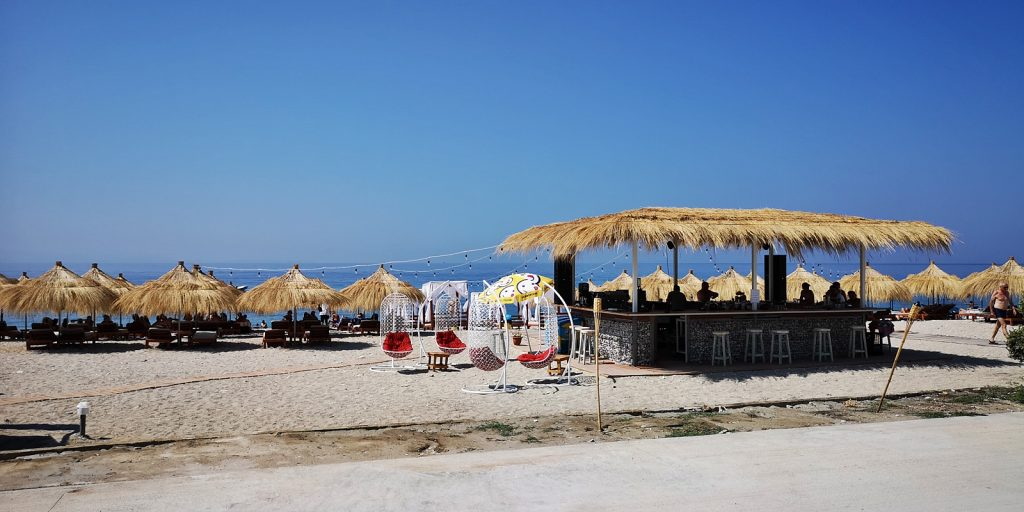 Beach-Bar, Borsh, Albanien