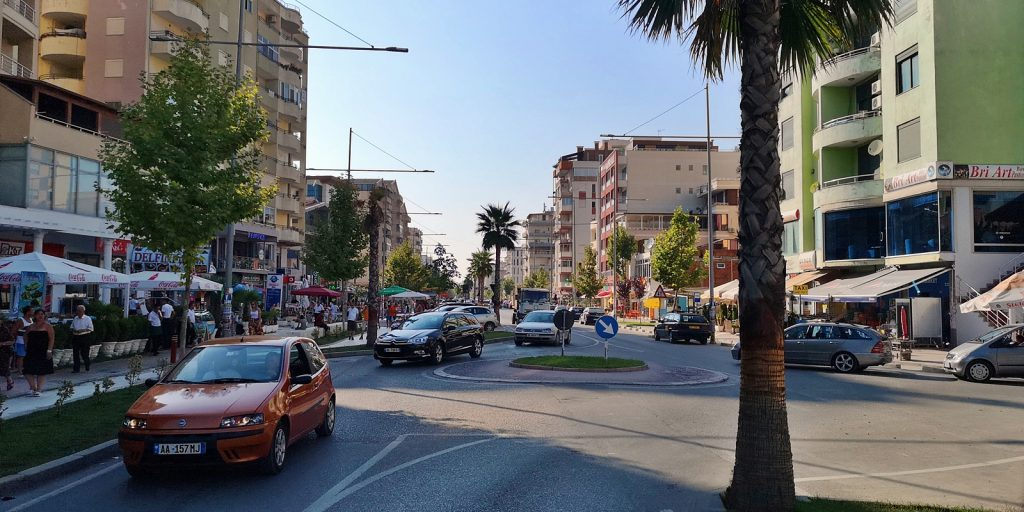 Uferstraße in Durrës