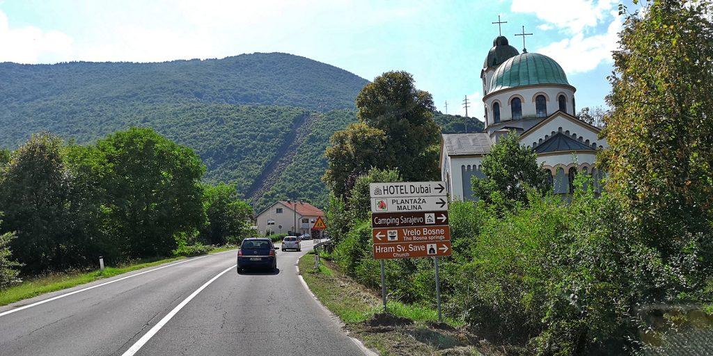 Orthodoxe Kirche am Stadtrand von Sarajevo