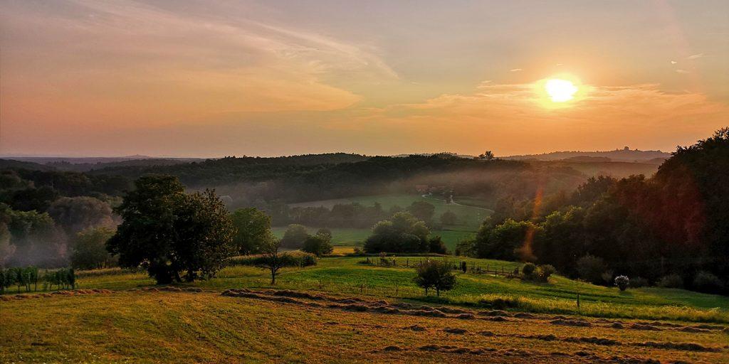 Abendstimmung kurz vor der Slowenischen Grenze
