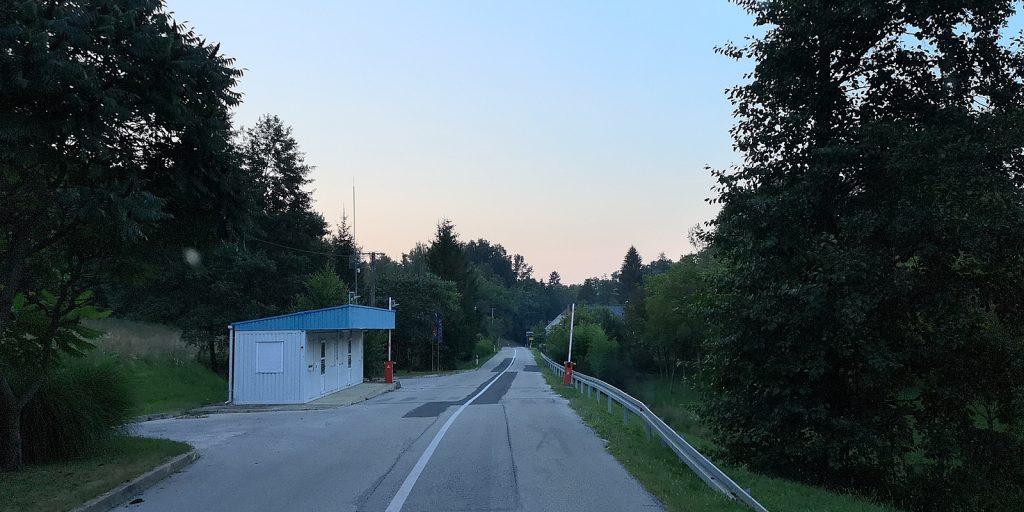 Kroatischer Grenzposten in Banfi