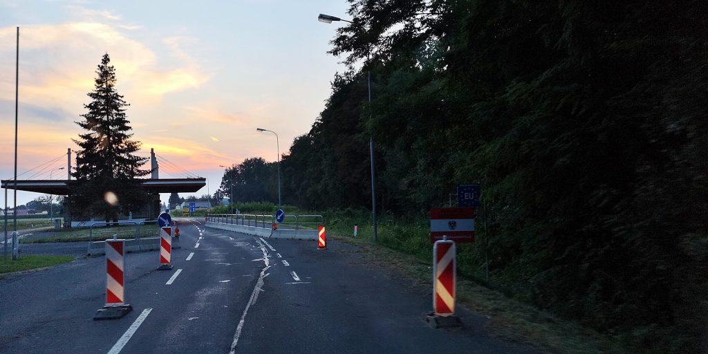 Slowenisch-österreichische Grenze bei Sicheldorf