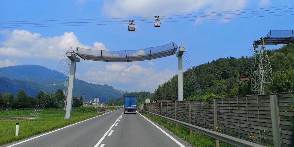 Materialseilbahn bei Oberfeistritz