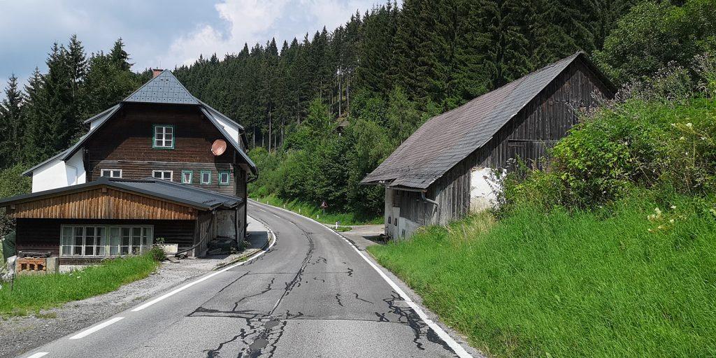 Weizer Straße kurz vor dem Alpl-Pass