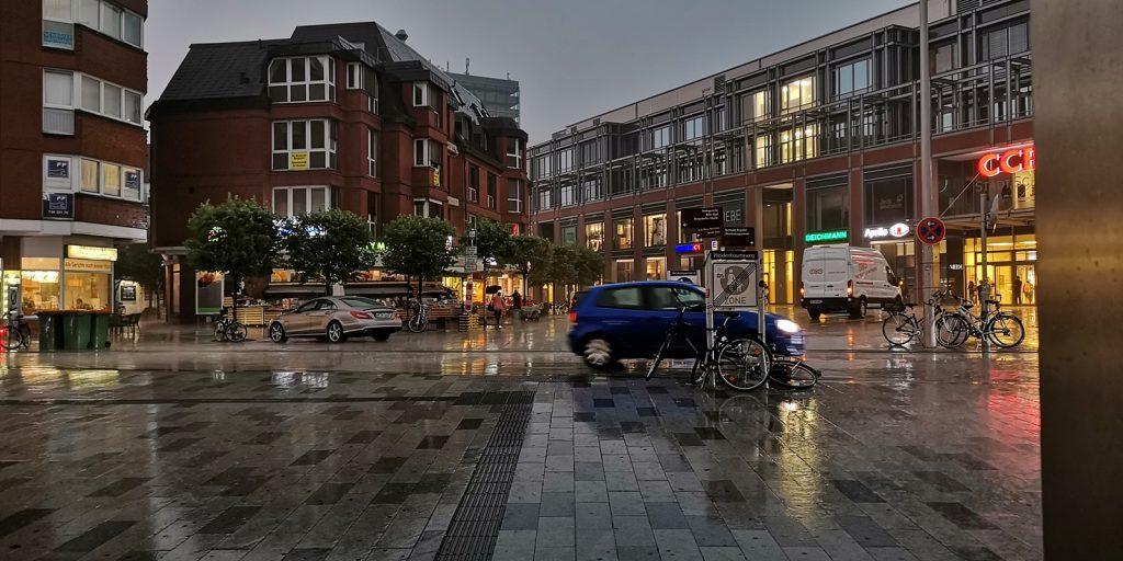 Wolkenbruch in Hamburg-Bergedorf