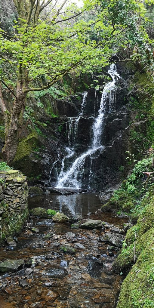 Wasserfall in Laxey, Isle of Man