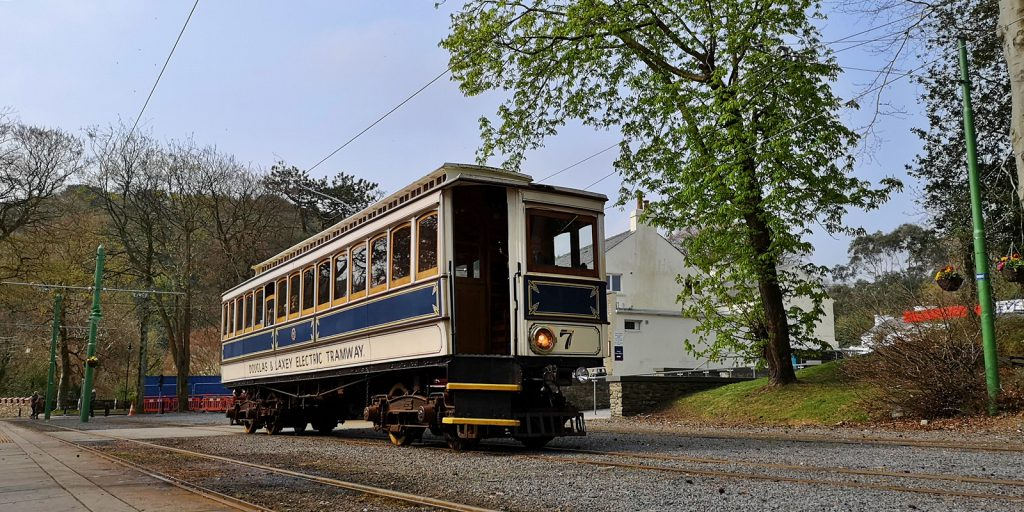 Manx Electric Railway in Laxey