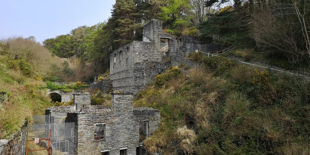 Ruinen der Great Laxey Mine