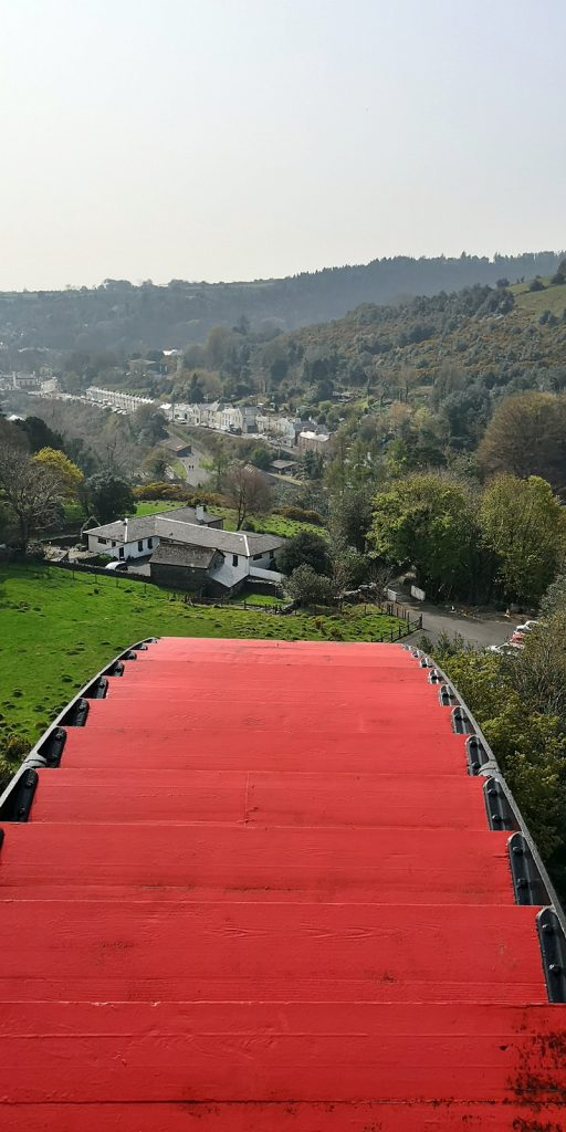 Blick vom Great Laxey Wheel