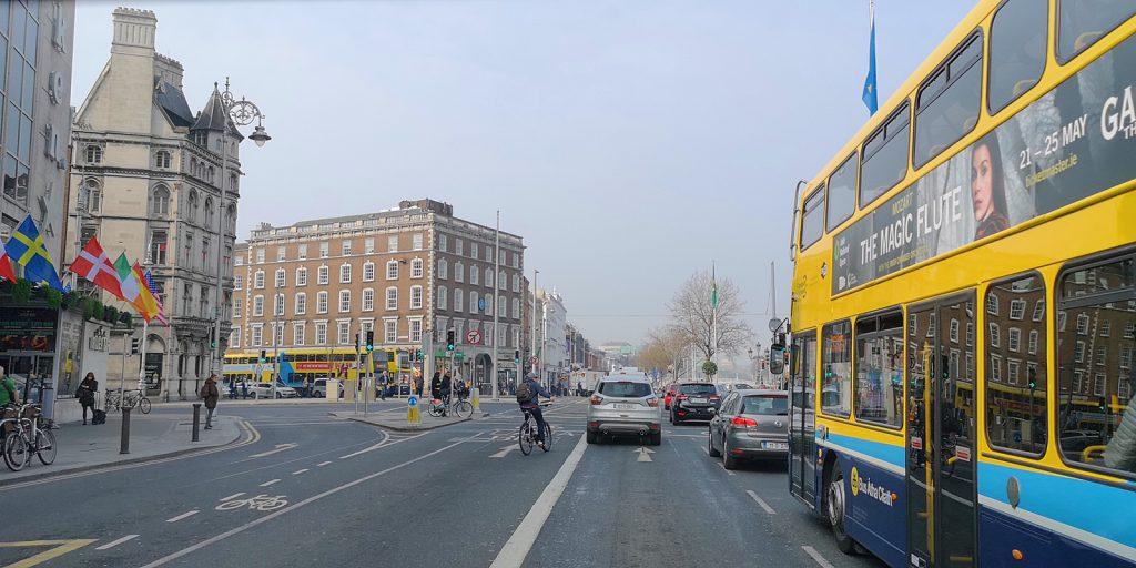 Verkehrschaos in Dublin