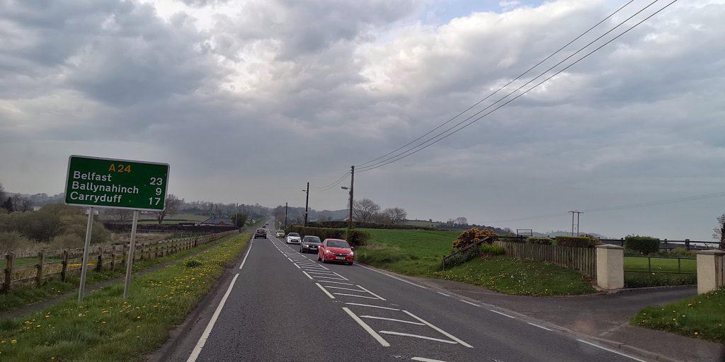 A24 Richtung Belfast