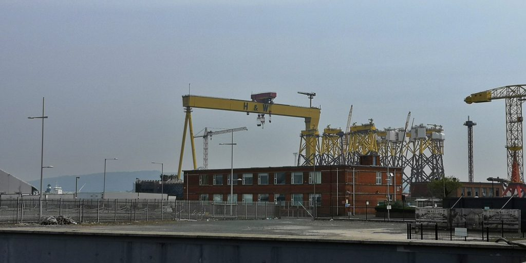 Samson, der größere der beiden Krane von Harland & Wolff