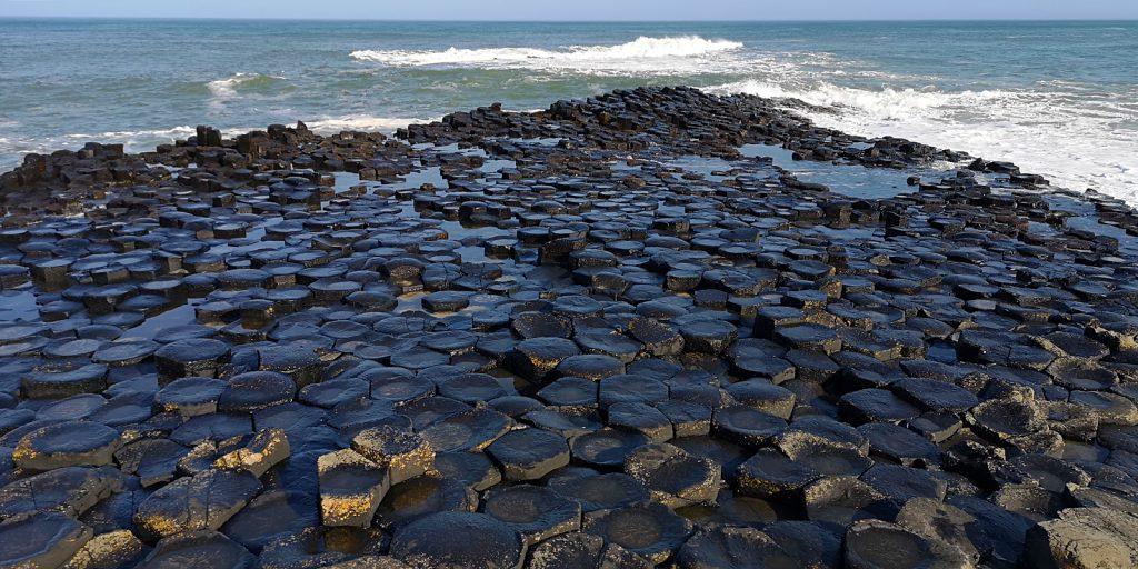 Giant's Causeway, Blick Richtung Schottland