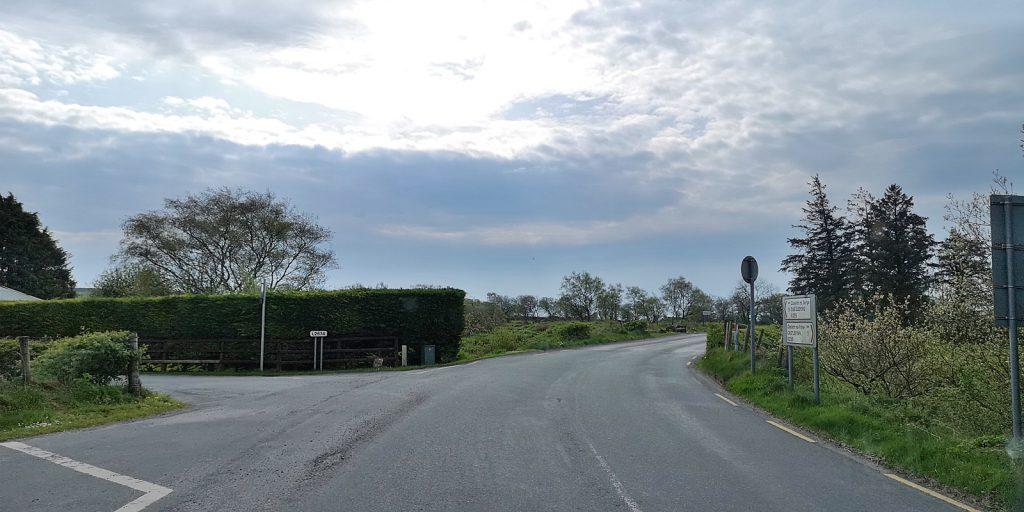 """""""Grenzhecke"""" an der R235 zwischen Castlefinn (IE) und Castlederg (GB)"""