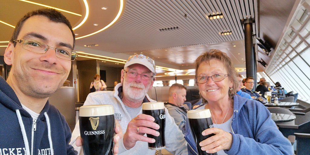 Ein letztes Guiness auf irischem Hoheitsgebiet