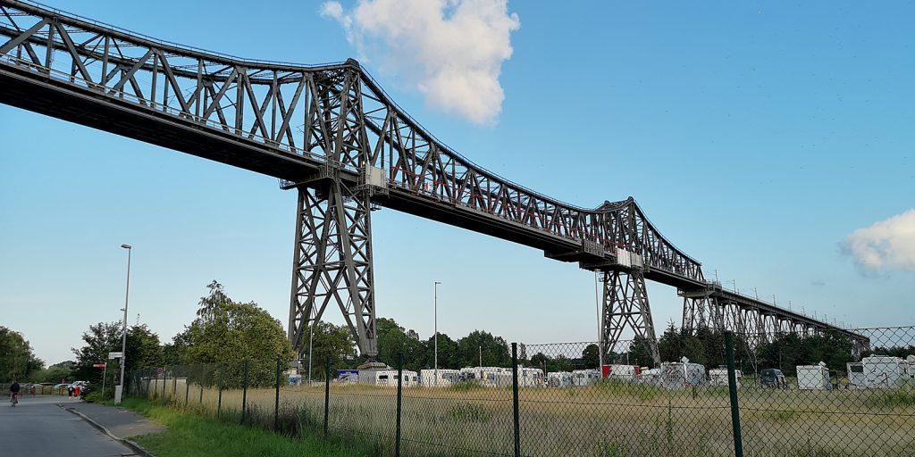 Rendsburger Hochbrücke ohne Schwebefähre