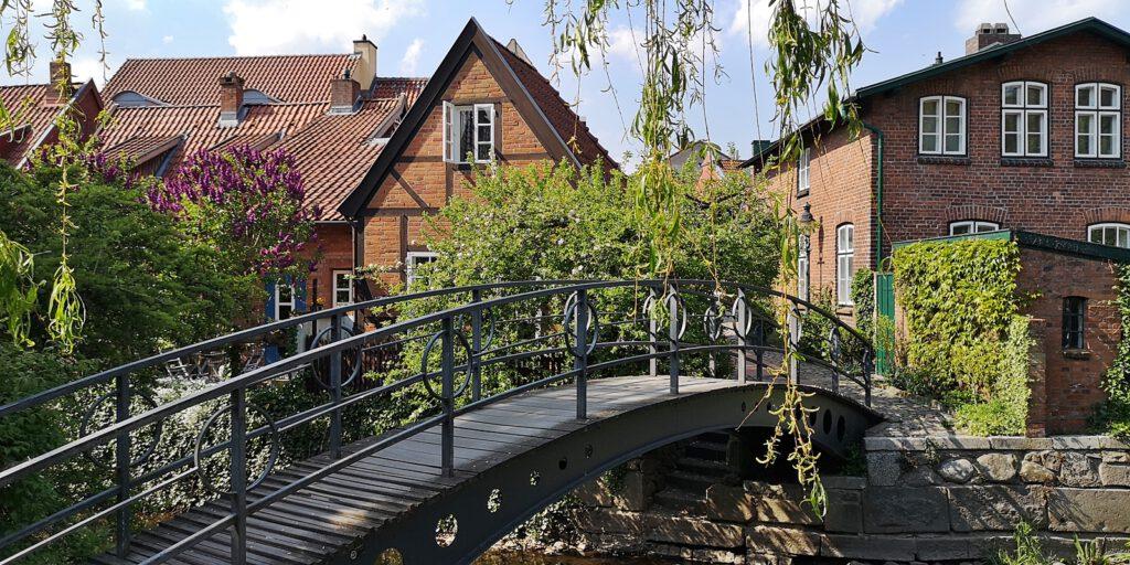 Brücke über die Trave, Altstadt Bad Oldesloe