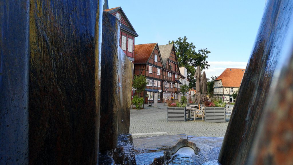 Häuserensemble aus dem frühen 17. Jahrhundert am Marktplatz Dannenberg