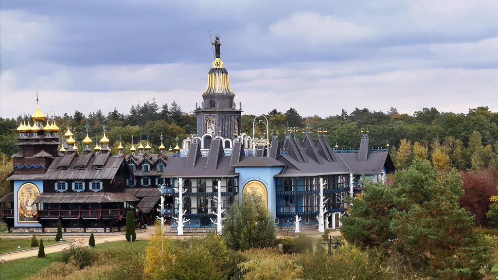 Glockenpalast von der Galerie-Windmühle aus gesehen