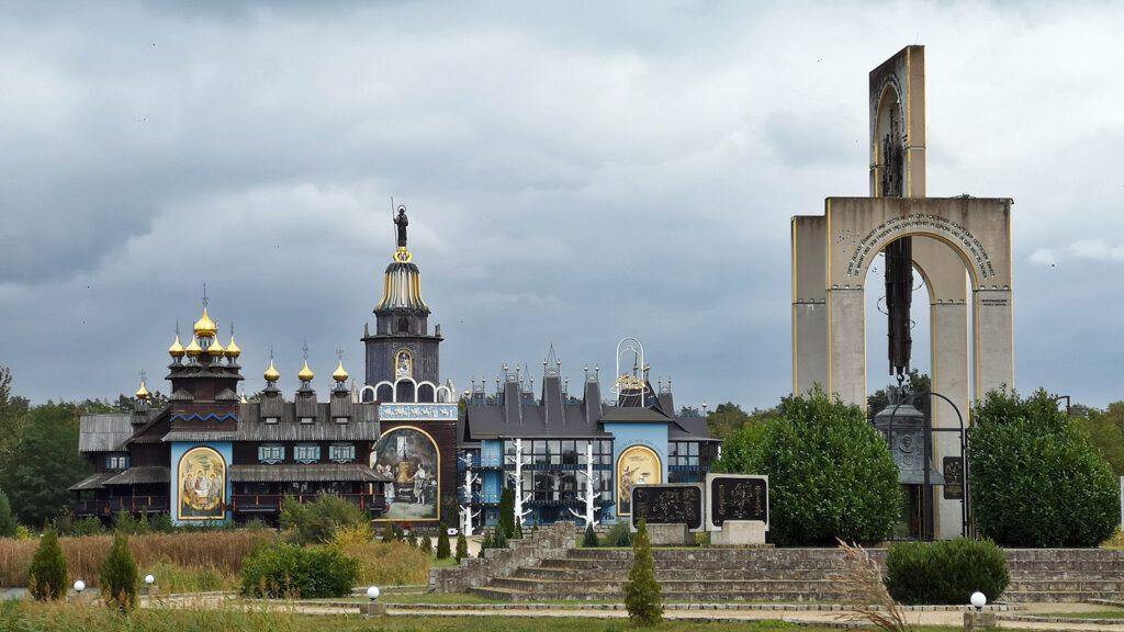 Freiheitsglocke auf dem Gelände des Glockenpalastes